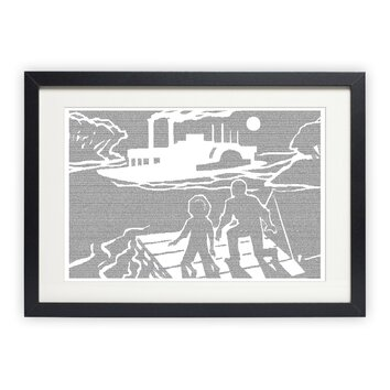postertext adventures of huckleberry finn framed graphic 13768 | custom image