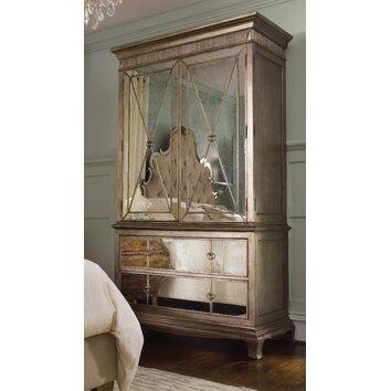 Hooker furniture sanctuary armoire reviews wayfair for Beladora bedroom set