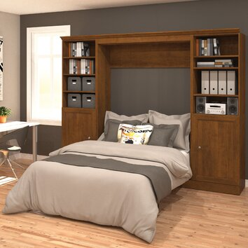 Bestar Versatile Full Double Murphy Bed Wayfair Ca