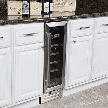 whynter 18 bottle single zone built in wine refrigerator reviews wayfair. Black Bedroom Furniture Sets. Home Design Ideas