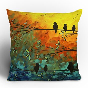 rugs for bedrooms deny designs madart inc birds of a feather throw pillow 13097