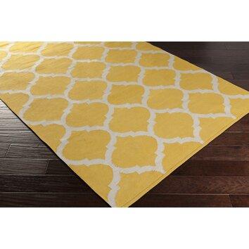 Artistic Weavers Vogue Yellow Geometric Everly Area Rug