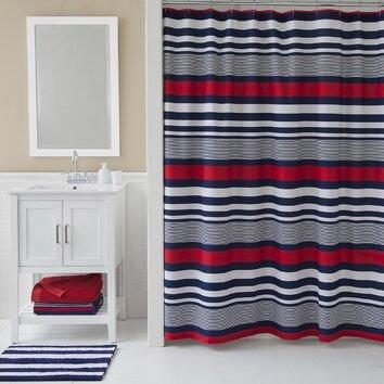 IZOD Varsity Stripe Shower Curtain Reviews Wayfair