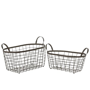ellersliegift furthermore 2 Piece Metal Rectangle Wire Basket Set 5212 URT8747 furthermore 243935 also 048230 further 3259524. on trees and trends outdoor furniture