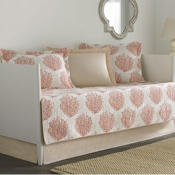 Laura Ashley Home Coral Coast 5 Piece Twin Daybed Quilt