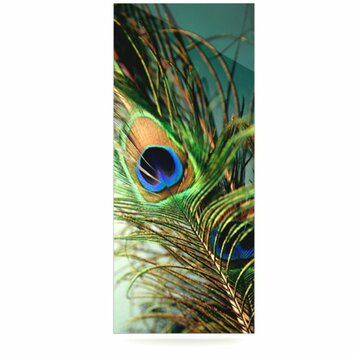 kess inhouse peacock feather by sylvia cook photographic With kitchen cabinets lowes with peacock feather wall art
