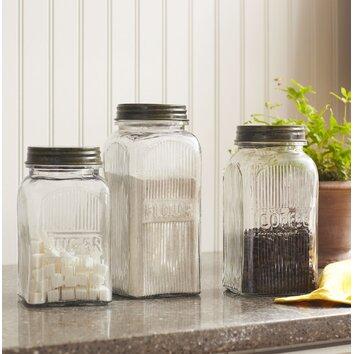 Birch Lane Weston 3 Piece Jar Set Amp Reviews Birch Lane