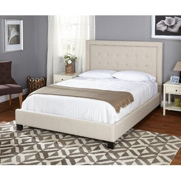 Tms Queen Upholstered Panel Bed Reviews Wayfair