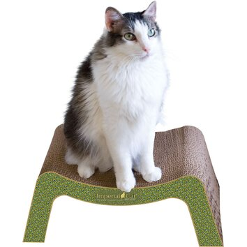 Imperial cat scratch 39 n shapes scratch and snooze recycled for Chaise lounge cat scratcher