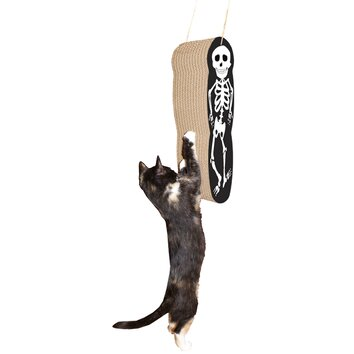 Imperial cat scratch 39 n shapes skeleton hanging recycled for Chaise lounge cat scratcher
