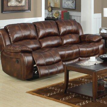 E Motion Furniture Mt Washington Leather Reclining Sofa