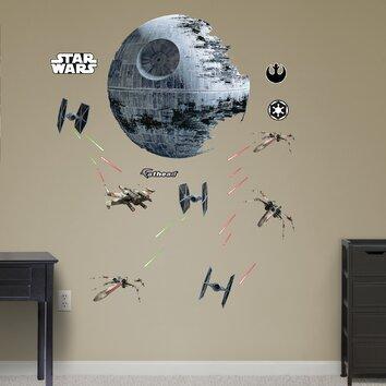Fathead Realbig Star Wars Death Star Battle Wall Decal