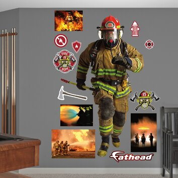 Fathead Firefighter Peel And Stick Wall Decal Wayfair