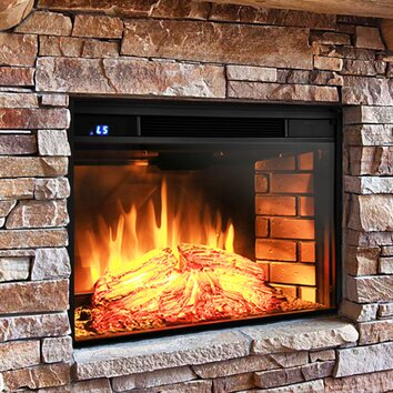 AKDY Wall Mount Electric Fireplace Insert & Reviews | Wayfair