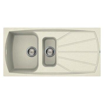 reginox living 100cm x 50cm kitchen sink reviews wayfair uk