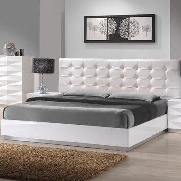 j m furniture verona platform bed reviews allmodern. Black Bedroom Furniture Sets. Home Design Ideas