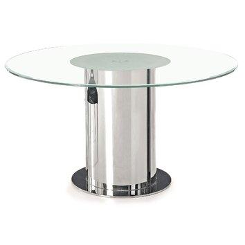 j m furniture modern clear dining table reviews allmodern. Black Bedroom Furniture Sets. Home Design Ideas