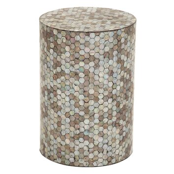 Cole grey end table reviews wayfair for Decor containers coles