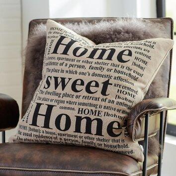 Mercury Row Antipatros Home Sweet Home Feathered Throw