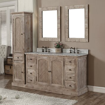 Infurniture Wk Series 61 Quot Double Bathroom Vanity Set With