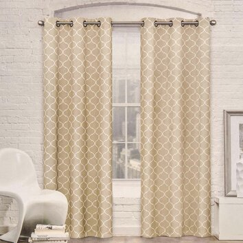 Crover Moroccan Trellis Room Darkening Curtain Panel