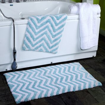 Affinity Linens 2 Piece Chevron Plush Bath Rug Set