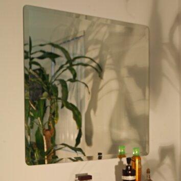 wade logan kayden frameless beveled wall mirror reviews. Black Bedroom Furniture Sets. Home Design Ideas