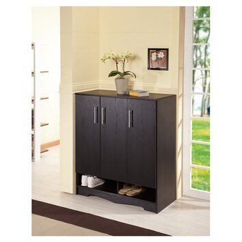 Wade Logan Francisco Modern 15-Pair Shoe Storage Cabinet