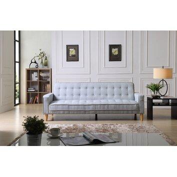 Wade Logan Derek Twill Sleeper Sofa Amp Reviews Wayfair