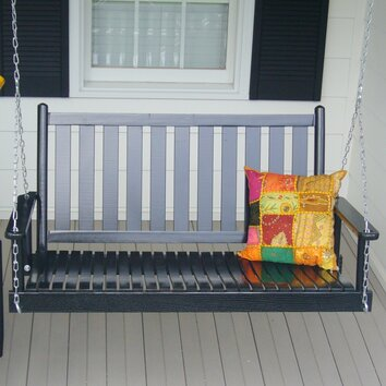 August Grove Janelle Hanging Porch Swing With Chain Reviews Wayfair
