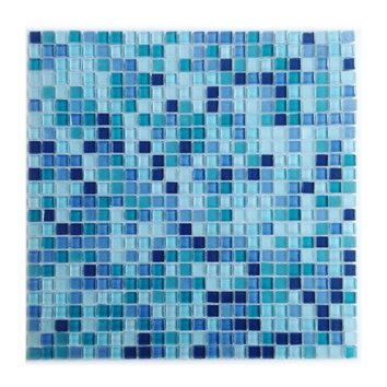 blue mosaic bathroom tiles abolos 0 38 quot x 0 38 quot glass mosaic tile in royal 17468