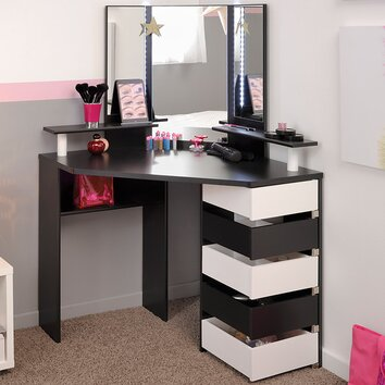 Parisot Volage Makeup Vanity With Mirror Wayfair