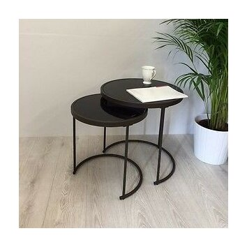 Hokku designs visio 2 piece nesting tables wayfair uk for Table design visio