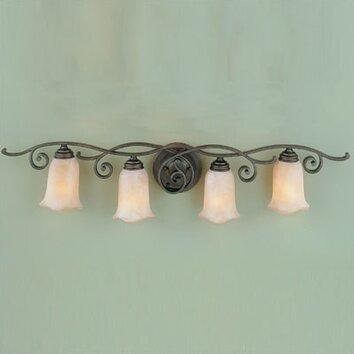 Feiss Tuscan Villa 4 Light Vanity Light Amp Reviews Wayfair