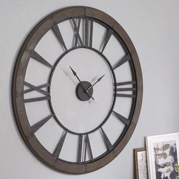 Uttermost Ronan Oversized 60 Quot Wall Clock Amp Reviews Wayfair