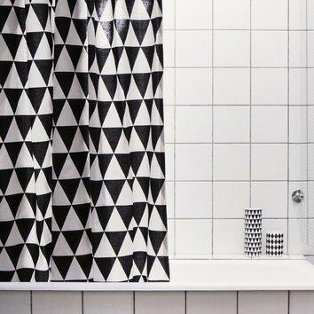 ferm living triangle shower curtain reviews wayfair. Black Bedroom Furniture Sets. Home Design Ideas