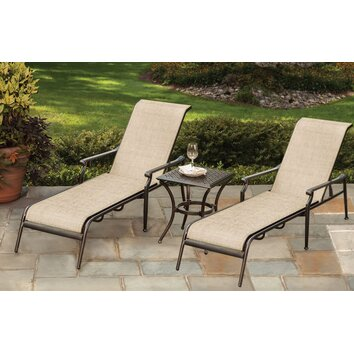 Oakland living bali 3 piece chaise lounge set wayfair for Black friday chaise lounge