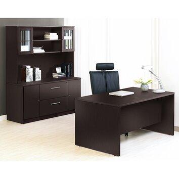 Unique Furniture 100 Collection 4 Piece Desk Office Suite