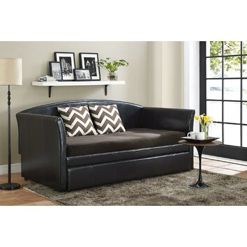 Dhp halle daybed with trundle reviews wayfair for Chaise longue halle