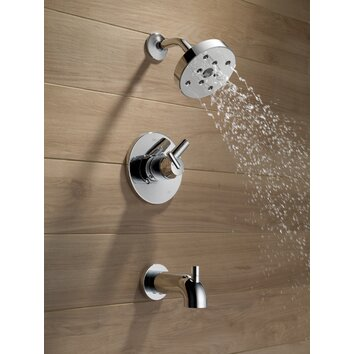 Delta Trinsic 174 Tub And Shower Faucet Trim With Lever