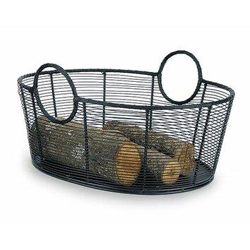 Minuteman Harvest Wrought Iron Log Basket Reviews Wayfair