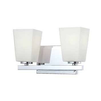 Minka Lavery City Square 2 Light Vanity Light & Reviews Wayfair