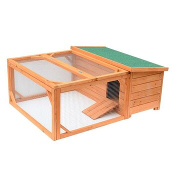 Aosom pawhut small wooden animal coop reviews wayfair for Aosom llc outsunny chaise lounge