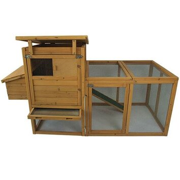 Aosom pawhut 75 deluxe wooden chicken coop hen house with for Aosom llc outsunny chaise lounge