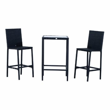 Aosom outsunny 3 piece bar bar set reviews wayfair for Aosom llc outsunny chaise lounge