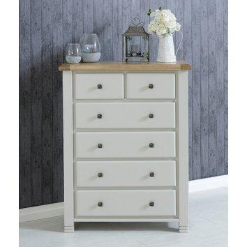 birlea woodstock 6 drawer chest of drawers wayfair uk. Black Bedroom Furniture Sets. Home Design Ideas