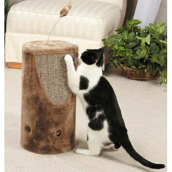 Savvy tabby tumbler sisal cat scratching post wayfair for Chaise lounge cat scratcher