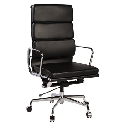 PoliVaz High-Back Leather Executive Chair with Arms