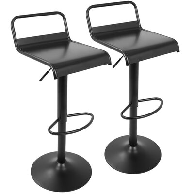 Zipcode™ Design Camuto Adjustable Height Swivel Bar Stool (Set of 2)