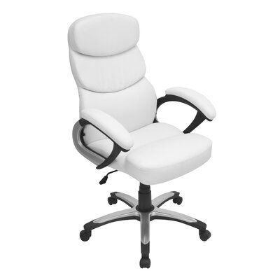 LumiSource Doctorate High-Back Leatherette Executive Chair